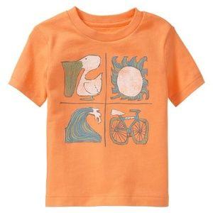 Baby Gap shirt Wave Sun Bike Pelican summer top